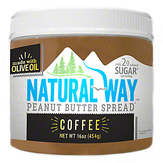 Natural Way Coffee Peanut Butter, 16 oz