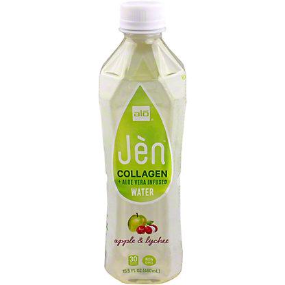 Alo Jen Apple & Lychee Collagen & Aloe Vera Infused Water, 15.5 oz