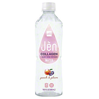 Alo Jen Peach & Plum Collagen & Aloe Vera Infused  Water, 15.5 oz