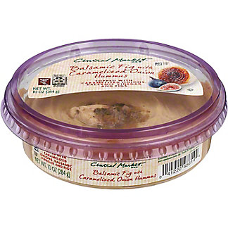 Central Market Balsamic Fig With Caramelized Onion Hummus, 10 oz