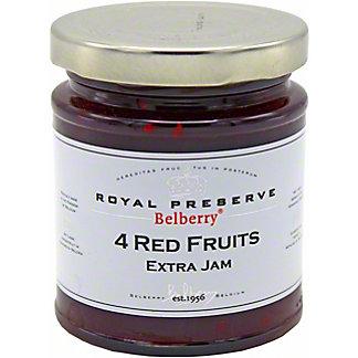 Belberry Four Red Fruits Extra Jam, 7.6 oz