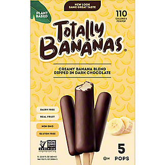 Totally Bananas Banana Chocolate Dream Pops, 10 ct