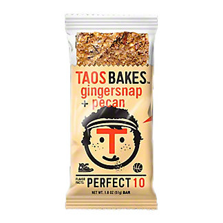 Taos Bakes Gingersnap & Pecan Bar, 1.8 oz