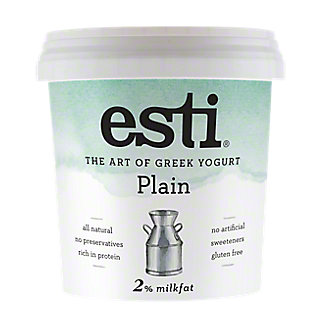 Esti Plain 2% Milkfat Greek Yogurt , 32 oz