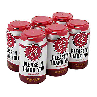 Lakewood Please 'N Thank You American Pale Ale Beer 12 oz Cans, 6 pk