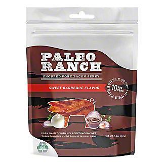 Paleo Ranch Sweet BBQ Uncured Pork Bacon Jerky, 1.5 oz