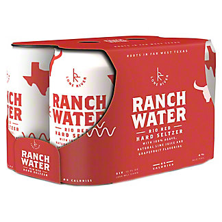 Lone River Beverage Company Rio Red Grapefruit Hard Seltzer Ranch Water, Cans, 6 pk, 12 fl oz ea