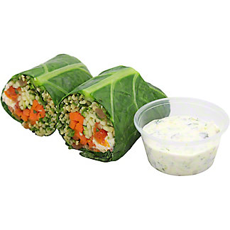Central Market Mediterranean Collard Green Wrap, ea