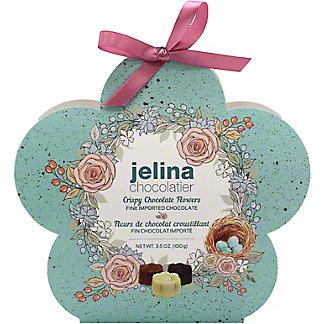 Jelina Chocolatier Assorted Pure Chocolate Flower Gift Box, 3.5 oz