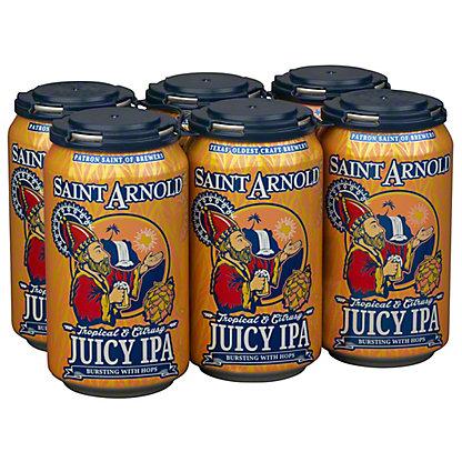 Saint Arnold Juicy IPA Beer 12 oz Cans, 6 pk