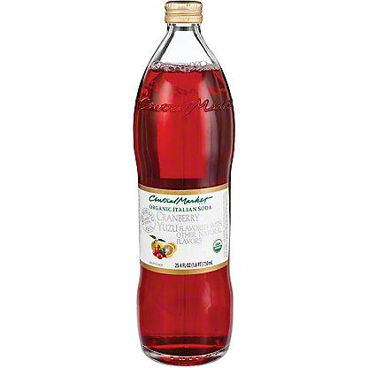 Central Market Organic Cranberry Yuzu Italian Soda, 750 mL