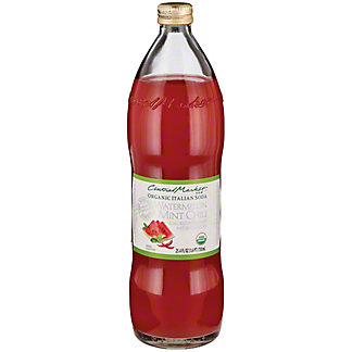 Central Market Organic Watermelon Mint Chili Italian Soda, 750 ml