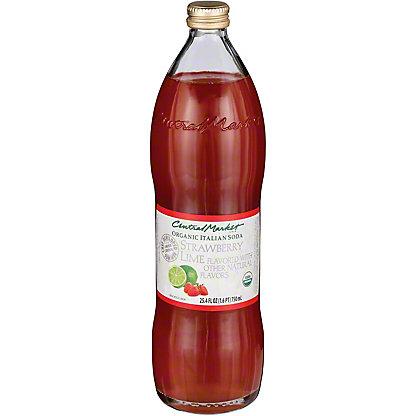 Central Market Strawberry Lime Organic Italian Soda, 750 mL