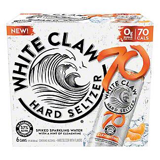 White Claw 70 Clementine, 6 pk Can, 12 fl oz ea