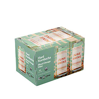 Juneshine Blood Orange Mint Hard Kombucha 12 oz Cans, 6 pk