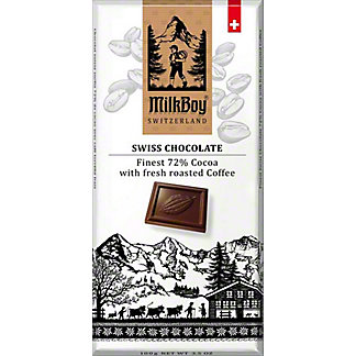 Milkboy 72% Swiss Dark Chocolate Roasted Coffee, 3.5 oz