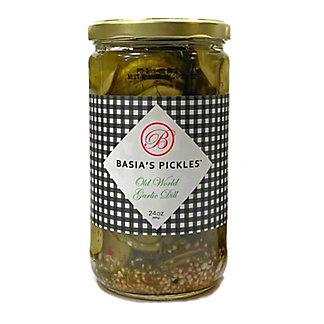 Basia's Pickles Old World Garlic Dill Pickles , 24 oz