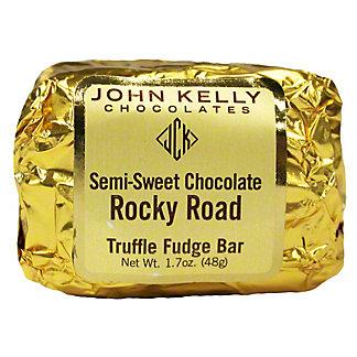 John Kelly Chocolates Semi Sweet Chocolate Rocky Road Truffle Fudge Bar, 1.7 oz