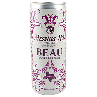 Messina Hof Beau Sweet Red Wine 8.5 oz Cans, 4 pk