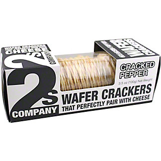 2S Company Cracked Pepper Wafer Crackers, 3.5 oz