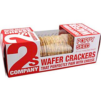 2s Company Poppy SeedWafer Crackers, 3.5 oz