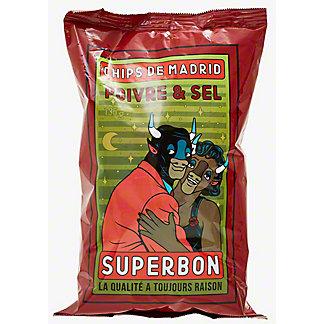 Superbon Salt And Pepper Potato Chips, 4.76 oz