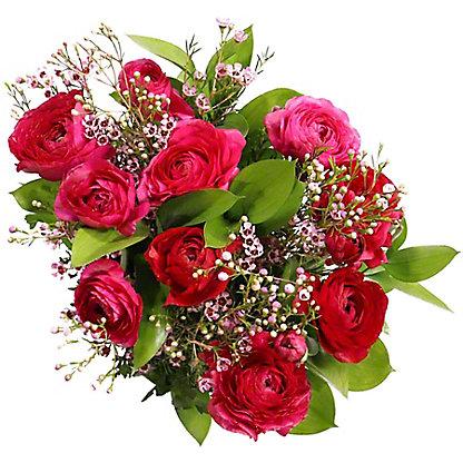 Central Market Ranunculus Waxflower Bouquet, ea
