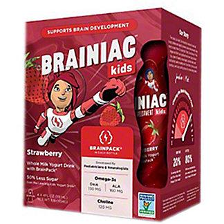 Brainiac Kids Strawberry Yogurt Drink, 4 pk, 4 fl oz ea