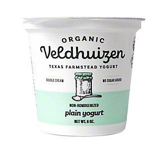 Veldhuizen Organic Plain Yogurt, 6 oz