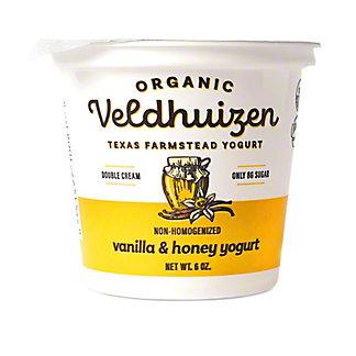Veldhuizen Organic Vanilla & Honey Yogurt, 6 oz