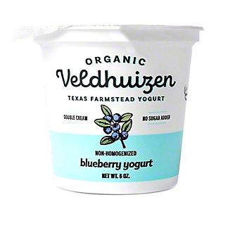 Veldhuizen Organic Blueberry Yogurt, 6 oz