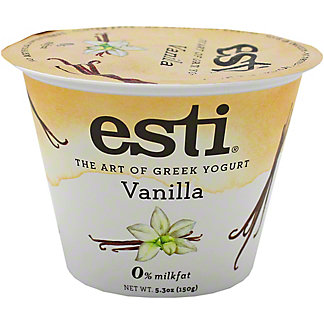 Esti 0% Vanilla Greek Yogurt, 5.3 oz