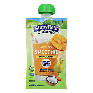 Stonyfield Organic Dairy Free Tropical Twist Smoothie Pouch, 3.2 oz