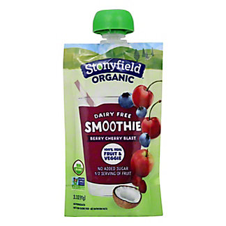 Stonyfield Organic Dairy Free Blueberry Beet Cherry Smoothie Pouch, 3.2 oz