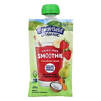 Stonyfield Organic Dairy Free Strawbana Smoothie Pouch, 3.2 oz