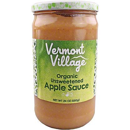 Vermont Village Organic Unsweetened Apple Sauce, 24 oz
