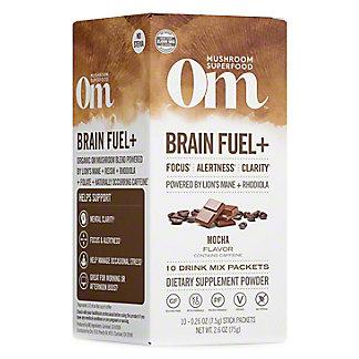 Om Mushroom Superfood Brain+ Fuel Mocha, 10 ct, 0.26 oz ea