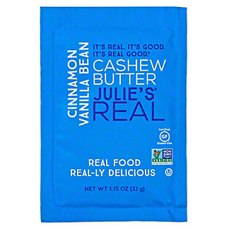 Julie's Real Cinnamon Vanilla Bean Cashew Butter, 1.15 oz