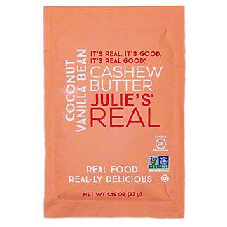 Julie's Real Coconut Vanilla Bean Cashew Butter, 1.15 oz