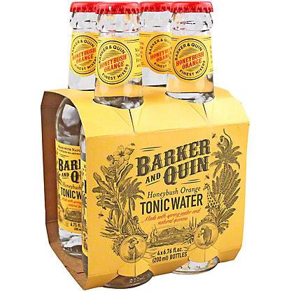 Barker And Quin Honeybush Orange Tonic Water, Bottles, 4 pk, 6.76 fl oz ea