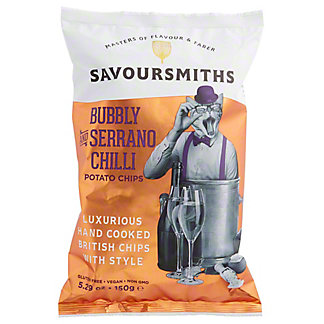 Savoursmiths Bubbly & Serrano Chili Potato Chips, 5.29 oz