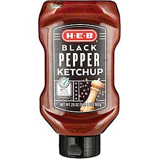 H-E-B Black Pepper Ketchup, 20 oz
