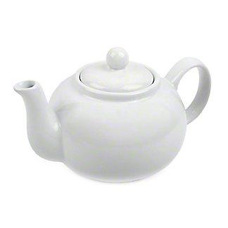 RSVP International White Stoneware Teapot, 16 oz