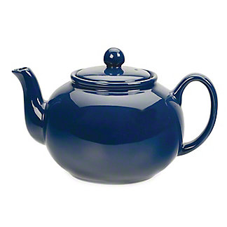 RSVP International Blue Stoneware Teapot, 42 oz