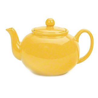 RSVP International Yellow Stoneware Teapot, 42 oz