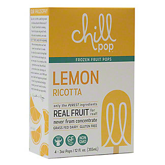Chill Pop Lemon Ricotta, 4 pk, 3 oz ea