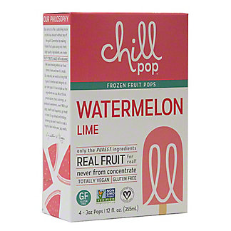 Chill Pop Watermelon Lime, 4 pk, 3 oz ea
