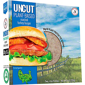 Before the Butcher Uncut Plant Based Roasted Turkey Burger, 2 ct, 4 oz ea