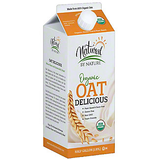 Natural By Nature Organic Plain Oat Milk, 64 fl oz