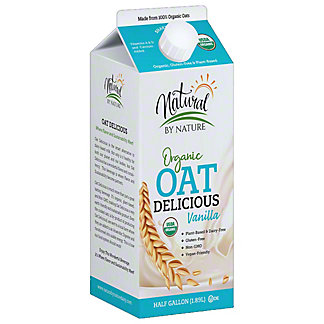 Natural By Nature Organic Vanilla Oat Milk, 64 oz
